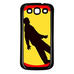 Walking Traffic Sign Samsung Galaxy S3 Back Case (black)