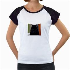 I Am Watching You! Women s Cap Sleeve T Shirt (white)