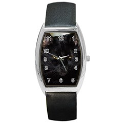 I Am Watching You! Tonneau Leather Watch