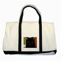 I am watching you! Two Toned Tote Bag