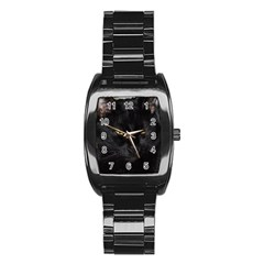 I am watching you! Men s Stainless Steel Barrel Analog Watch