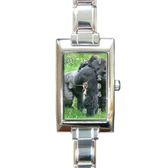 gorilla dad Rectangular Italian Charm Watch