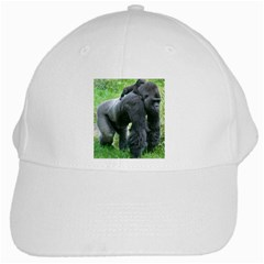 Gorilla Dad White Baseball Cap
