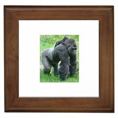 gorilla dad Framed Ceramic Tile