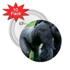 Gorilla Dad 2 25  Button (10 Pack)