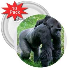 gorilla dad 3  Button (10 pack)
