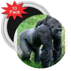 Gorilla Dad 3  Button Magnet (10 Pack)