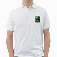 gorilla dad Mens  Polo Shirt (White)
