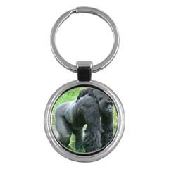 Gorilla Dad Key Chain (round)