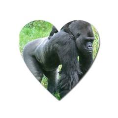 gorilla dad Magnet (Heart)
