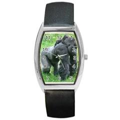 gorilla dad Tonneau Leather Watch