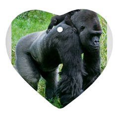 Gorilla Dad Heart Ornament (two Sides)