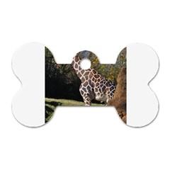 giraffe Dog Tag Bone (Two Sided)