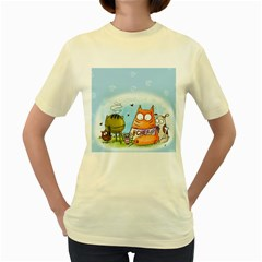 Apron  Womens  T-shirt (Yellow)