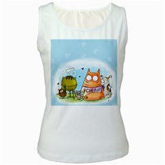 Apron Womens  Tank Top (white)