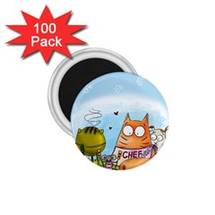 Apron 1.75  Button Magnet (100 pack)