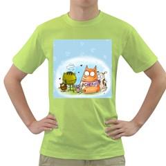 Apron Mens  T-shirt (Green)