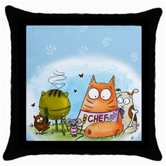 Apron Black Throw Pillow Case