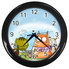 Apron Wall Clock (Black)