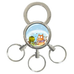 Apron 3-Ring Key Chain