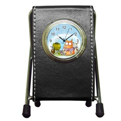 Apron Stationery Holder Clock