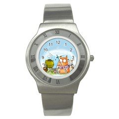 Apron Stainless Steel Watch (Unisex)