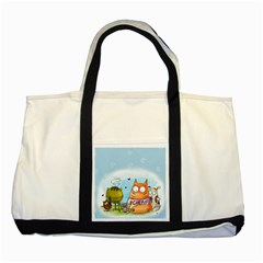 Apron Two Toned Tote Bag