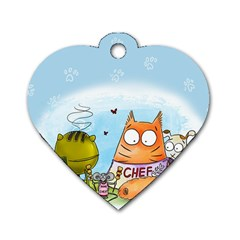 Apron Dog Tag Heart (One Sided)