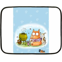 Apron Mini Fleece Blanket (Two Sided)
