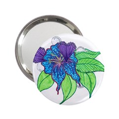 Flower Design Handbag Mirror (2.25 )