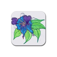 Flower Design Drink Coasters 4 Pack (Square)