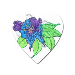 Flower Design Magnet (Heart)