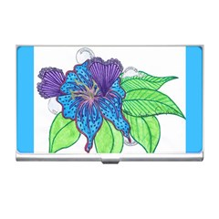 Flower Design Business Card Holder