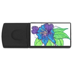 Flower Design 2GB USB Flash Drive (Rectangle)