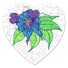 Flower Design Jigsaw Puzzle (Heart)