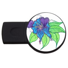 Flower Design 4GB USB Flash Drive (Round)