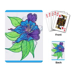 Flower Design Playing Cards Single Design