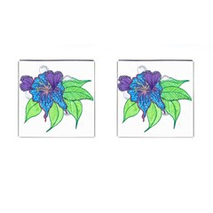 Flower Design Cufflinks (square)