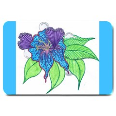 Flower Design Large Door Mat