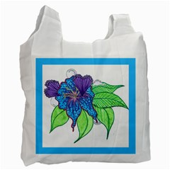 Flower Design Recycle Bag (two Sides)