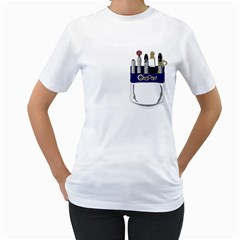 Sonic Pocket Protector Womens  T Shirt (white)
