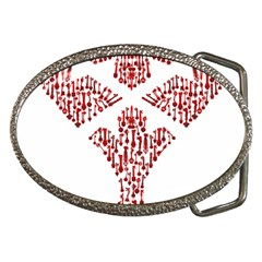 Key Heart 2 Belt Buckle (Oval)