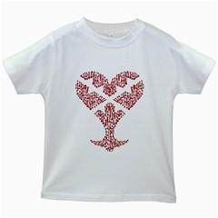Key Heart 2 Kids' T-shirt (White)