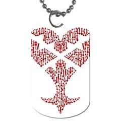 Key Heart 2 Dog Tag (One Sided)