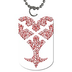 Key Heart 2 Dog Tag (two Sided)