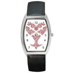 Key Heart 2 Tonneau Leather Watch