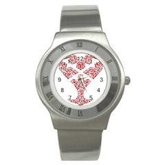 Key Heart 2 Stainless Steel Watch (Unisex)