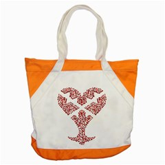 Key Heart 2 Accent Tote Bag