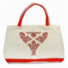 Key Heart 2 Classic Tote Bag (Red)