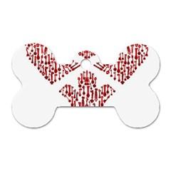 Key Heart 2 Dog Tag Bone (One Sided)